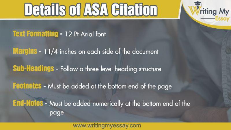 ASA Citation